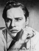 Marlon Brando by Drawing-Dude-Dave