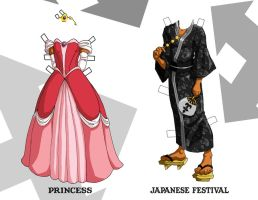 Xemnas Paper Doll Outfits 1 by Oriana132