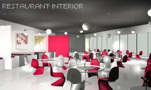 3d interior of restaurant by jianzwindz