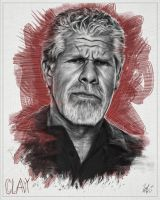 Clay Morrow Portrait -SOA 01 with Colour by LBG44