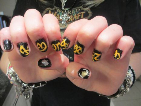 Amon Amarth Nail Art by Brennie-Chan