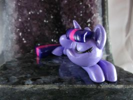 Sleeping Twilight Sparkle (close-up) by DeadHeartMare