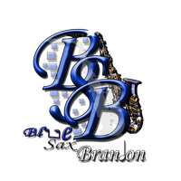 Blue Sax Brandon's Logo V3 by BCMmultimedia