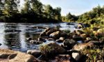 River with rocks by shinylaughter