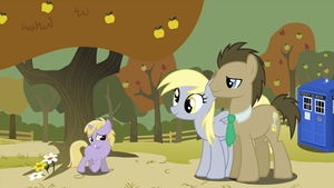 Doctor Whooves and Family by luther38