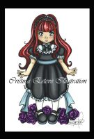 Little Gothic doll by CrisAngy88