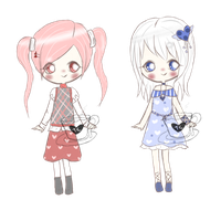 Pink and Blue Adopts //CLOSED// by TeaCrazy1837