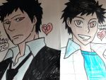 KHR This both of different with his face by Bluedragoncartoon