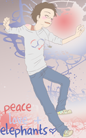 APH - Peace Love + Elephants by Jen-the-Idiot