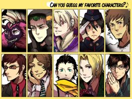 Can You Guess My Favorite Characters? by BuraMathews