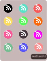 RSS Icons set by mata-mhari