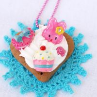 Love Bunny Cookie Necklace by AndyGlamasaurus