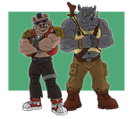 Bebop and Rocksteady by McSlackerton