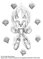 Super Sonic and the 7 Chaos by yuski