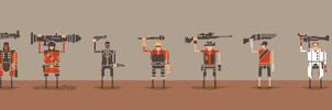 Team Fortress 2 Characters by ShroomArts