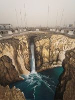 3D illusions: The waterfall by Man-Of-World