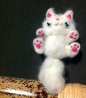 Funny Cat Plushie ''Hug me?'' by lutamesta