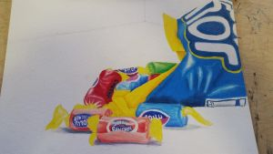 Jolly Ranchers // Art Class Project by SimplySketchii