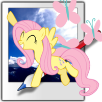 Fluttershy Paint.net Icon by Buildabot25