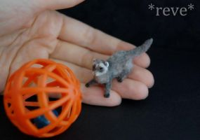 Handmade Miniature Ferret by ReveMiniatures