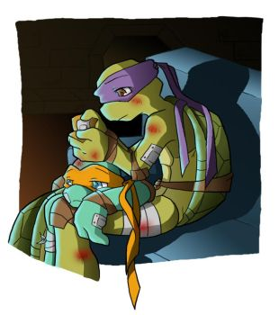 TMNT: On the couch by NamiAngel