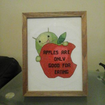 Android Vs Apple Cross Stitch by SynergyStitches