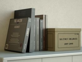 3D Model : Briefing Room Books and Box by V3Digitimes
