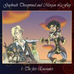 Guybrush and Morgan I by Tabascofanatikerin