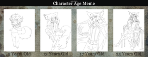 Original Character Meme Fox Ages by kanogt