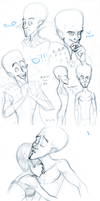Megamind Sketches 3 by Gingerscoffee