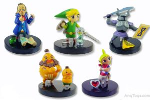 Zelda Figurines 2 by godofwarlover