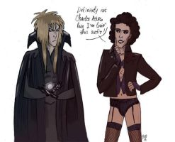 Jareth and Frank by monokene