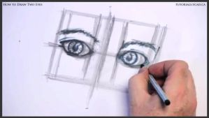 Learn how to draw two eyes 016 by drawingcourse