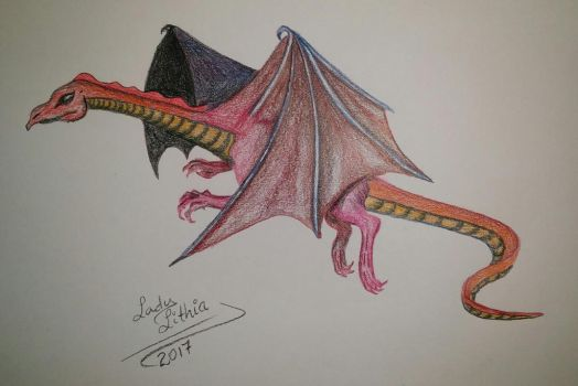 Red Dragon by ladylithia