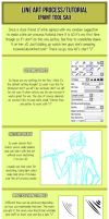 Line art process/tutorial (part 1) by misunderstoodpotato