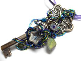 Custom Key Necklace for sld by sojourncuriosities