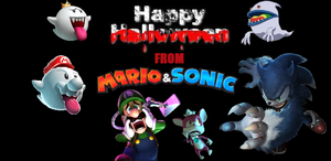 Happy Halloween from Mario and Sonic! by ClariceElizabeth
