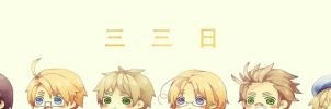 Happy 3 3 Day!! by miisheruu