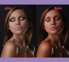 Befor and After retouching 4 by RubyRosy