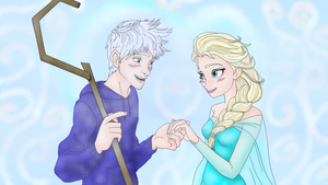 Jack Frost And Queen Elsa by ShadowFeylin