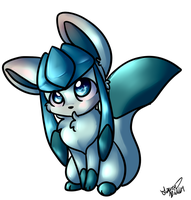 Glaceon Chibi by Freeze-pop88