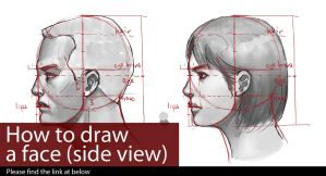 Tutorial - How to draw a face (side view) by LEKKER
