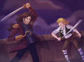 Hook and Peter by Sirothello