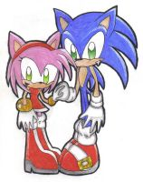 Sonic and Amy by chaixing