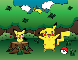 Pikachu Forest - Welcome! by sylview