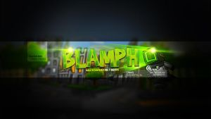 Youtube OneChannel Header - Blamph by FinsGraphics