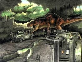 t.rex attack an oldie by VyToR