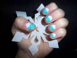 Snow Nails by HermioneFrost