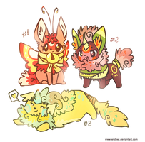 Fluffy chibis [Adoptables: CLOSED] by Endber