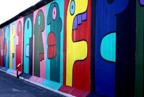 faces on the wall by navano